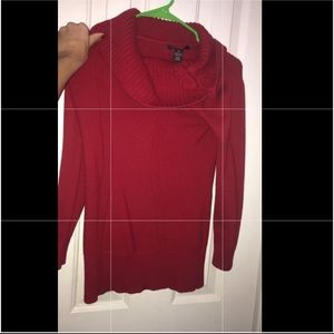 Red sweater from Macy's